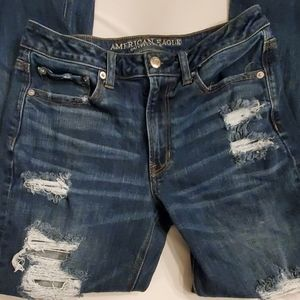 American Eagle Stretch X Distressed Jeans